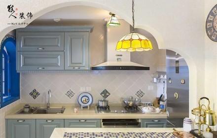 70平蓝白地中海二室在家遐想爱琴海餐厅2图