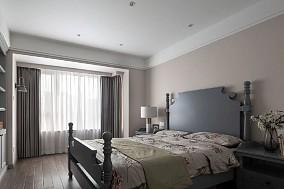 180㎡新美式风大宅,沉静而柔和卧室1图美式田园设计图片赏析