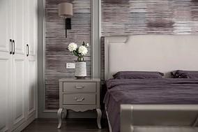 180㎡新美式风大宅,沉静而柔和卧室2图美式田园设计图片赏析