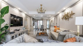 160㎡的美式轻奢风,舒适才是家的真谛14940099
