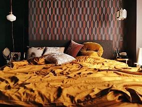 120㎡使用黑色元素,混搭出复古秘密花园卧室1图潮流混搭设计图片赏析