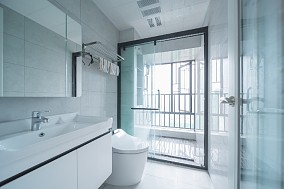 奢而不华,都市新贵首选卫生间1图中式现代设计图片赏析