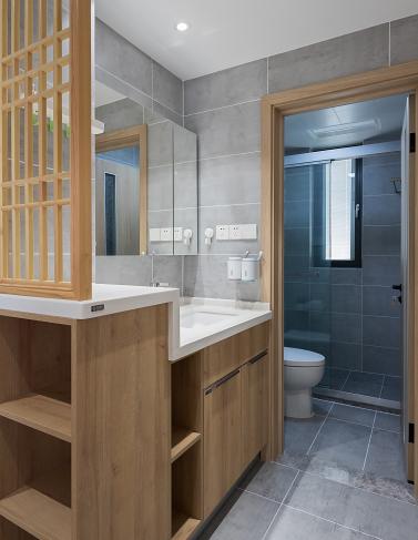 112m²三居室日式简约中享受清闲卫生间