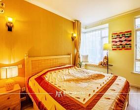 85m²混搭,黄色皇家风范卧室潮流混搭设计图片赏析