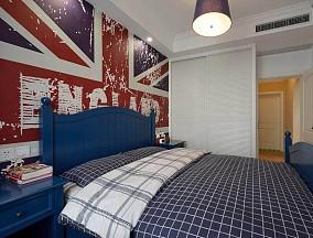 126平三居室浪漫的地中海风卧室2图地中海设计图片赏析