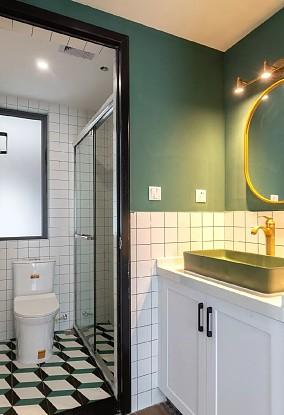 """81㎡的三居室,""""有腔调""""的生活卫生间设计图片赏析"""