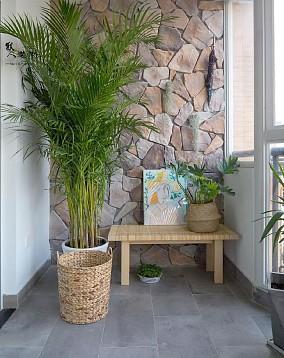 170㎡干净简洁北欧家,自然的艺术感阳台北欧极简设计图片赏析
