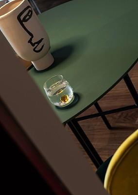 77㎡两居室,摩登复古红+绿厨房潮流混搭设计图片赏析