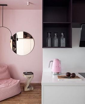 公主粉,粉色小女孩的家阳台现代简约设计图片赏析