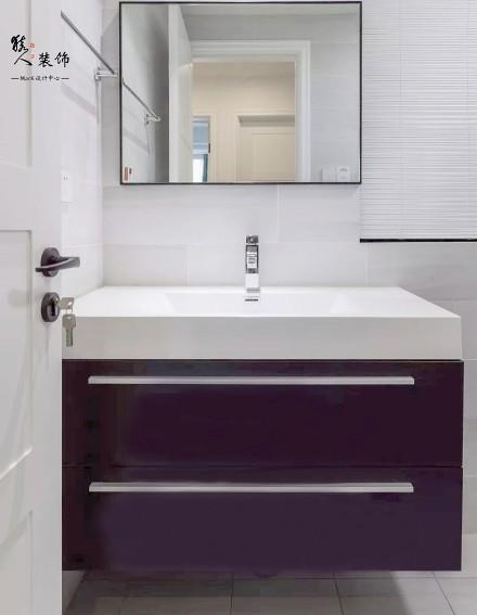 100㎡现代简约,营造优雅小复式卫生间