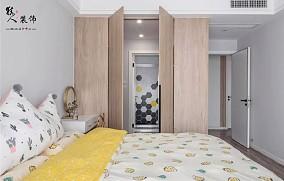 110㎡简约北欧,清新淡雅,温暖的家卧室北欧极简设计图片赏析