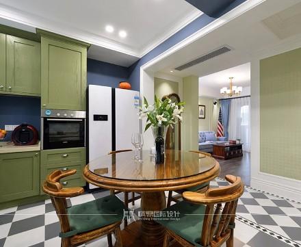 98m²简约美式,华丽优雅厨房