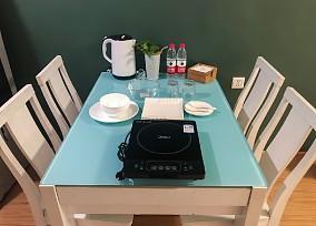 55平小空间,绿色极简风格厨房2图北欧极简设计图片赏析