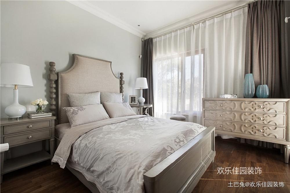 550平别墅一层美式一层中式卧室美式经典卧室设计图片赏析