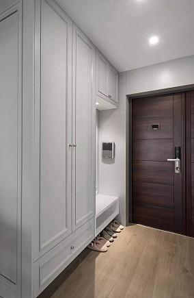 保利林语溪130平现代轻奢装修玄关设计图片赏析
