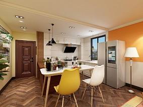 康乃馨美式复古风格80平米餐厅美式经典设计图片赏析