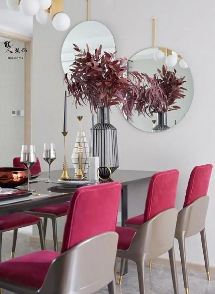 143㎡现代古典,艳丽的时尚,轻奢端庄厨房