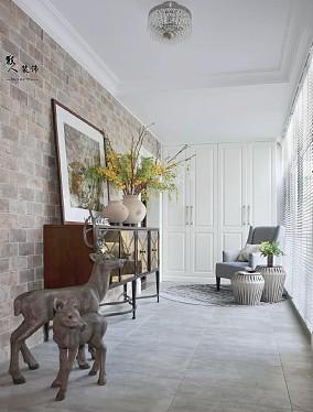 133㎡简约美式,现代成熟的气质阳台美式经典设计图片赏析