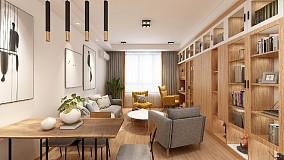 原木色的家具配白墙,简单又温润的空间。15232987