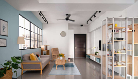 98平米三居室的现代风格。15231300