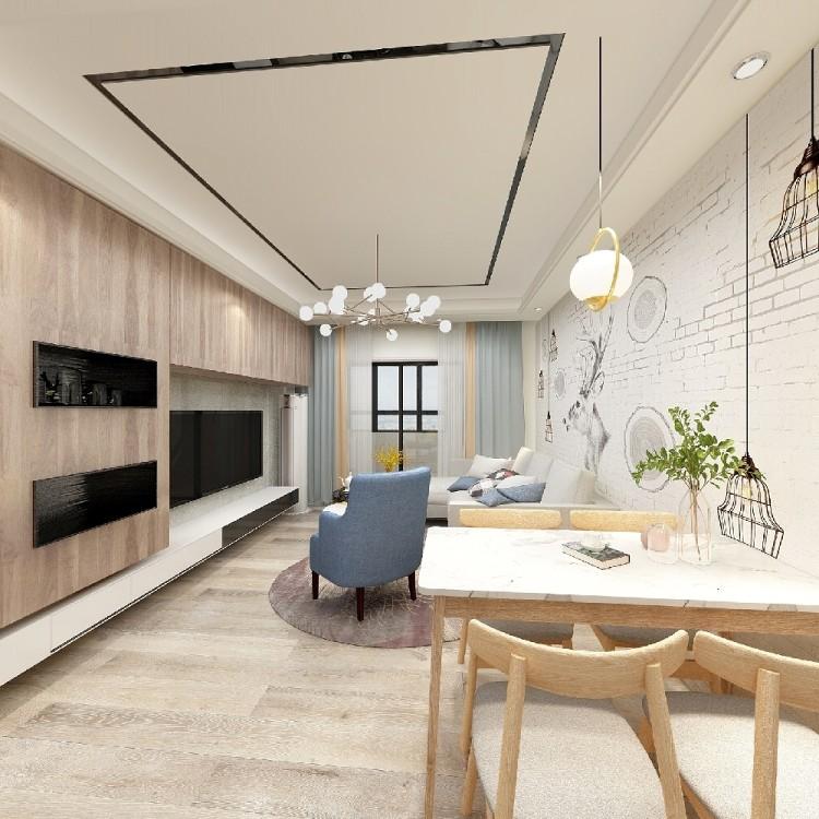 60㎡现代风格两居室