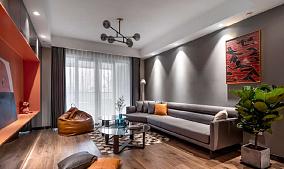 100平米的北欧现代,简直恰到好处客厅1图北欧极简设计图片赏析