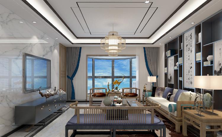 130平米中式风格,高清家居