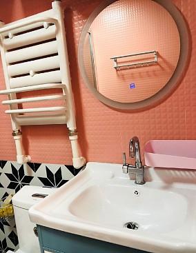 101平两室一厅精美装修卫生间潮流混搭设计图片赏析