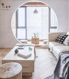 70㎡日式简洁,安静自然好文雅阳台1图日式设计图片赏析