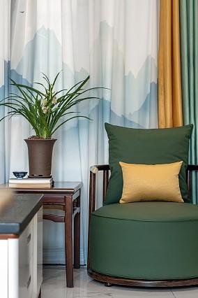 移步易景108平中式山水秀色客厅中式现代设计图片赏析