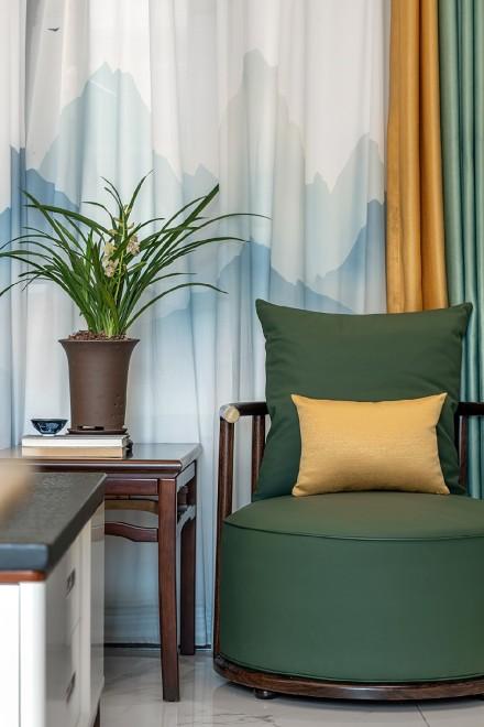 移步易景108平中式山水秀色客厅