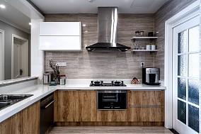 140㎡现代美式三居,厨房设计时尚感超强15303096