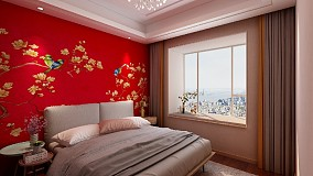 140平,精装房,软装搭配卧室现代简约设计图片赏析