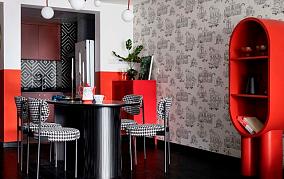 要一定要用一种颜色来形容业主,就是红厨房2图现代简约设计图片赏析