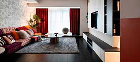 要一定要用一种颜色来形容业主,就是红客厅现代简约设计图片赏析