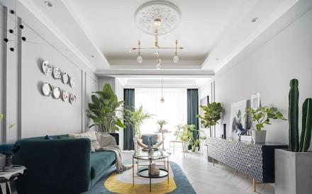 110平方地中海带来的大自然的味道客厅