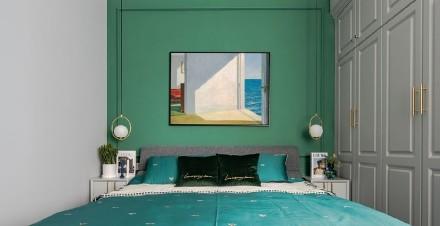 110平方地中海带来的大自然的味道卧室