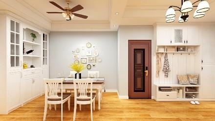 124㎡现代美式风格三居厨房