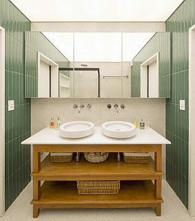 多元素融合之家120m²潮流混搭卫生间设计图片赏析