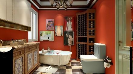 缤纷美式,色彩之间卫生间2图