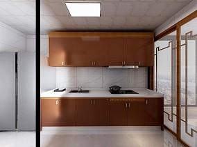 财富中心118新中式三居餐厅中式现代设计图片赏析