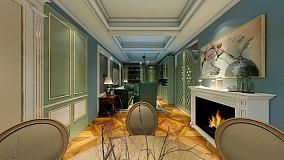 缤纷美式,色彩之间厨房2图美式经典设计图片赏析