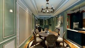缤纷美式,色彩之间厨房1图美式经典设计图片赏析