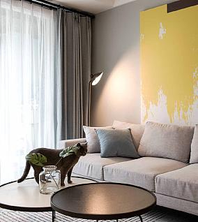 78平米北欧风格,温柔细腻的家客厅北欧极简设计图片赏析