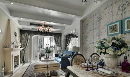 地中海100平米线条美客厅