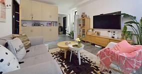 109㎡北欧风,清闲舒适也漂亮客厅北欧极简设计图片赏析