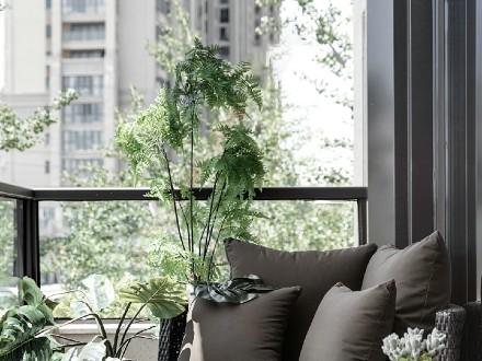 420㎡别墅新中式+高级灰,尽显高贵阳台