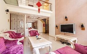 220平复式欧式简约装修客厅1图欧式豪华设计图片赏析