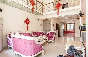 220平复式欧式简约装修客厅2图欧式豪华设计图片赏析