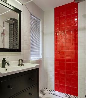 67平米现代风格,餐厅简直惊艳一个家!卫生间现代简约设计图片赏析